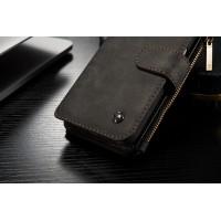 Винтажный многофункциональный чехол портмоне/органайзер подставка с защелкой для Samsung Galaxy S7 Черный