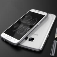 Металлический округлый премиум бампер винтового типа для Samsung Galaxy S7 Черный