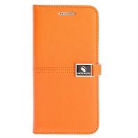 Чехол портмоне подставка с защелкой для Samsung Galaxy S7 Оранжевый