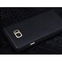 Кожаный чехол горизонтальная книжка (нат. кожа) текстура Клетка для Samsung Galaxy S7 Черный