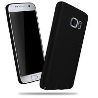 Пластиковый матовый непрозрачный чехол для Samsung Galaxy S7 Черный