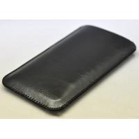 Кожаный вощеный мешок для Samsung Galaxy S7 Черный
