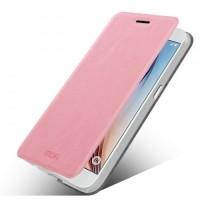 Чехол флип подставка водоотталкивающий для Samsung Galaxy S7 Edge Розовый