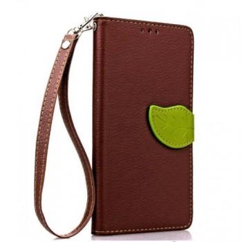 Текстурный чехол портмоне подставка на силиконовой основе с дизайнерской застежкой для Samsung Galaxy S7 Edge