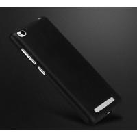 Силиконовый матовый непрозрачный чехол для Xiaomi RedMi 3 Черный