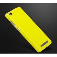 Силиконовый матовый непрозрачный чехол для Xiaomi RedMi 3 Желтый