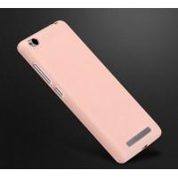 Силиконовый матовый непрозрачный чехол для Xiaomi RedMi 3 Розовый
