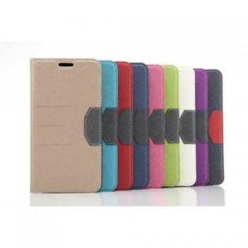Текстурный чехол флип подставка на силиконовой основе с отделением для карты для Samsung Galaxy S7 Edge