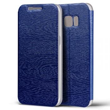 Текстурный чехол флип подставка на пластиковой основе для Samsung Galaxy S7 Edge