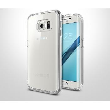 Двухкомпонентный премиум чехол с металлическим бампером и силиконовой накладкой для Samsung Galaxy S7 Edge