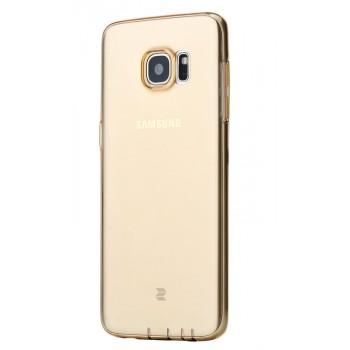 Силиконовый матовый полупрозрачный чехол повышенной защиты с заглушками для Samsung Galaxy S7 Edge