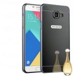 Двухкомпонентный чехол с металлическим бампером и поликарбонатной накладкой с зеркальным покрытием для Samsung Galaxy S7 Edge