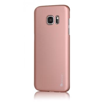 Пластиковый матовый непрозрачный чехол Металлик для Samsung Galaxy S7 Edge