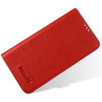 Кожаный чехол флип-подставка для Philips i928 Красный