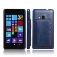 Дизайнерский чехол накладка с отделениями для карт и подставкой для Microsoft Lumia 535 Синий