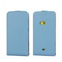 Чехол вертикальная книжка на пластиковой основе для Nokia Lumia 625 Синий