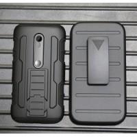 Антиударный гибридный силиконовый чехол с поликарбонатной крышкой для Lenovo Moto G