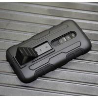 Антиударный гибридный силиконовый чехол с поликарбонатной крышкой для Lenovo Moto G Черный