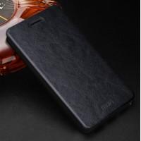 Водоотталкивающий чехол флип подставка на силиконовой основе для Xiaomi RedMi 3 Черный