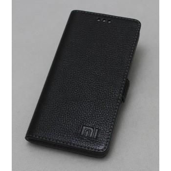 Кожаный чехол горизонтальная книжка (нат. кожа) для Xiaomi RedMi 3