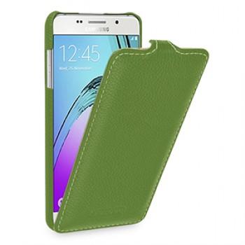 Кожаный чехол вертикальная книжка (нат. кожа) для Samsung Galaxy A5 (2016)