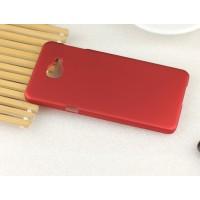 Пластиковый матовый непрозрачный Металлик чехол для Samsung Galaxy A3 (2016) Красный