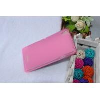 Силиконовый матовый полупрозрачный чехол для Sony Xperia T3 Розовый