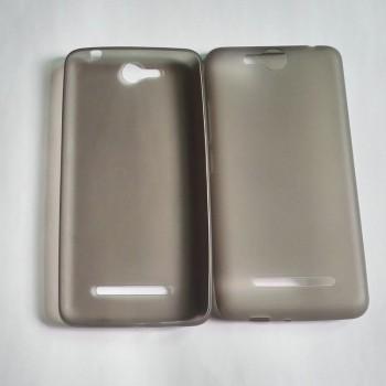Силиконовый матовый полупрозрачный чехол для Micromax Juice 2