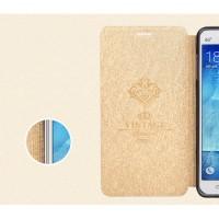 Чехол флип подставка на силиконовой основе текстура Соты для Samsung Galaxy J3 (2016) Бежевый