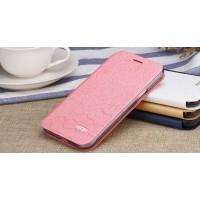 Чехол флип подставка на силиконовой основе текстура Соты для Samsung Galaxy J3 (2016) Розовый