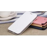 Чехол флип подставка на силиконовой основе текстура Соты для Samsung Galaxy J3 (2016) Белый
