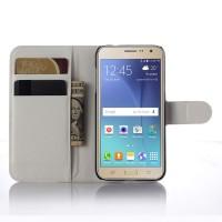 Чехол портмоне подставка с защелкой для Samsung Galaxy J3 (2016) Белый