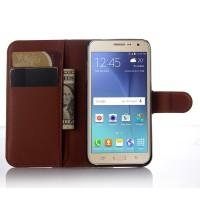 Чехол портмоне подставка с защелкой для Samsung Galaxy J3 (2016) Коричневый
