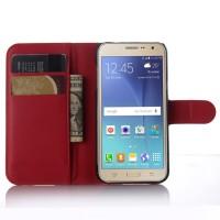 Чехол портмоне подставка с защелкой для Samsung Galaxy J3 (2016) Красный
