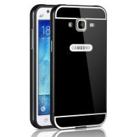 Двухкомпонентный чехол с металлическим бампером и поликарбонатной накладкой для Samsung Galaxy J3 (2016)