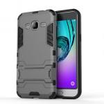 Двухкомпонентный силиконовый чехол с пластиковым бампером и подставкой для Samsung Galaxy J3 (2016)