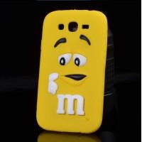 Силиконовый дизайнерский фигурный чехол для Samsung Galaxy J3 (2016) Желтый