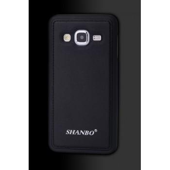 Силиконовая накладка текстура Кожа для Samsung Galaxy J3 (2016)