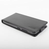 Глянцевый чехол вертикальная книжка на силиконовой основе с магнитной застежкой для ASUS ZenFone Max Черный