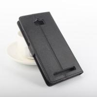 Чехол портмоне подставка на силиконовой основе с магнитной защелкой для ASUS ZenFone Max Черный
