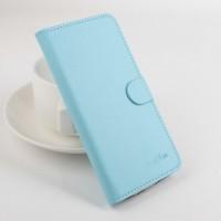 Чехол портмоне подставка на силиконовой основе с магнитной защелкой для ASUS ZenFone Max Голубой