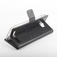 Глянцевый чехол портмоне подставка на силиконовой основе с магнитной защелкой для ASUS ZenFone Max Черный