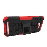 Антиударный гибридный чехол экстрим защита силикон/поликарбонат для ASUS ZenFone Max Красный