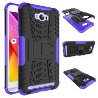 Антиударный гибридный чехол экстрим защита силикон/поликарбонат для ASUS ZenFone Max Фиолетовый