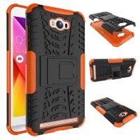 Антиударный гибридный чехол экстрим защита силикон/поликарбонат для ASUS ZenFone Max Оранжевый