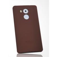 Силиконовый матовый нескользящий премиум чехол для Huawei Mate 8 Коричневый