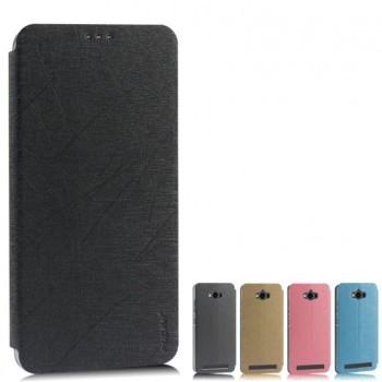 Текстурный чехол флип подставка на пластиковой основе с присоской для ASUS ZenFone Max
