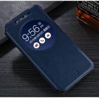 Чехол флип подставка на силиконовой ооснове с окном вызова для ASUS ZenFone Max Синий
