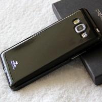 Силиконовый глянцевый непрозрачный чехол для Samsung Galaxy Grand Prime Черный