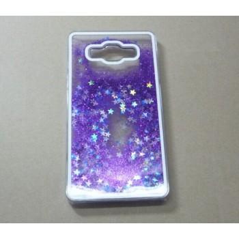 Пластиковый матовый полупрозрачный чехол с внутренней аква аппликацией для Samsung Galaxy Grand Prime